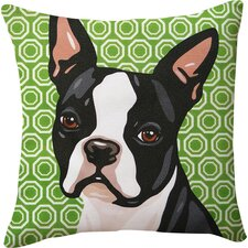 Pooch Decor Boston Terrier Indoor/Outdoor Throw Pillow