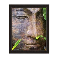 Buddha in Forest Framed Graphic Art
