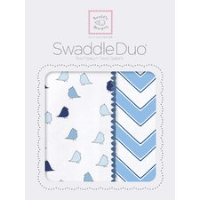 Riley Swaddle Blanket in Blue