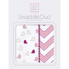 Riley Swaddle Blanket in Pink