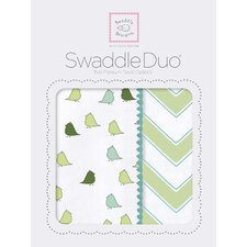 Riley Swaddle Blanket in Green