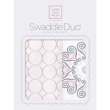 Penelope Swaddle Blanket in Pink