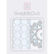 Penelope Swaddle Blanket in Blue