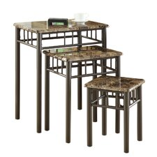 White Oak 3 Piece Nesting Tables by Andover Mills