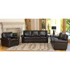 Coggins 3 Piece Italian Leather Sofa, Loveseat and Armchair  by Darby Home Co®