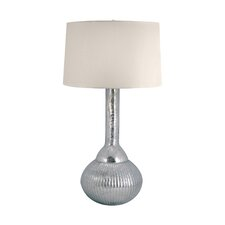 "Mercury Glass Fluted Bulb 33"" Table Lamp"