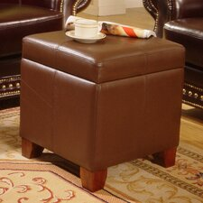 Storage Leather Ottoman by Lanza