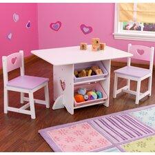 3-tlg. Tisch und Stuhl-Set