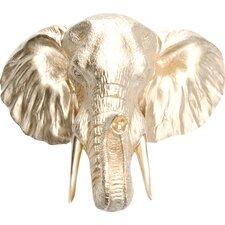 Faux Taxidermy Resin Elephant Head Wall Décor