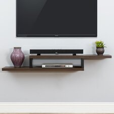 "Ascend 60"" Asymmetrical Wall Mounted TV Component Shelf"