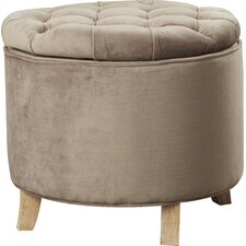 Compson King Upholstered Ottoman by House of Hampton