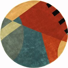 Rodeo Drive Hand-Tufted Orange/Gray Area Rug