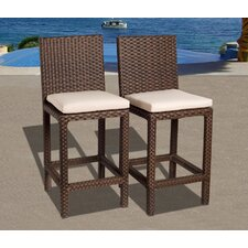 "Euphranor 28"" Bar Stool with Cushion (Set of 2)"