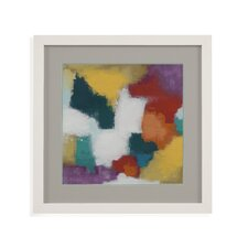 Thoroughly Modern 'Color Cascade I' Framed Painting Print