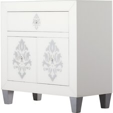 Periwinkle 1 Drawer 2 Door Chest by House of Hampton