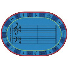 Value Plus A-Sharp Music Area Rug