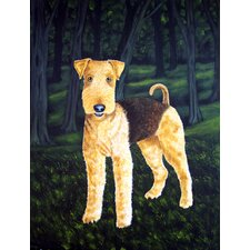 Delta Airedale Terrier 2-Sided Garden Flag