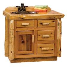 Traditional Cedar Log 42 Bathroom Vanity Base by Fireside Lodge