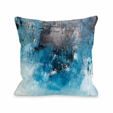 Ocean Oil Painting Throw Pillow