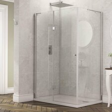 Stoney Rectangular Hinged Door Shower Enclosure