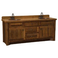 Reclaimed Barnwood 72 Bathroom Vanity Base by Fireside Lodge