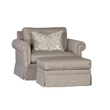 Stockbridge Chair and Half and Ottoman by Chelsea Home Furniture