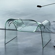 Ghost Curved Glass Monolithic Side Chair
