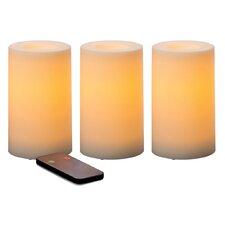 3 Piece Flameless Candle Set (Set of 3)