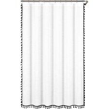 100% Cotton Tassel Shower Curtain