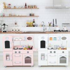 Wooden Play Kitchen Set