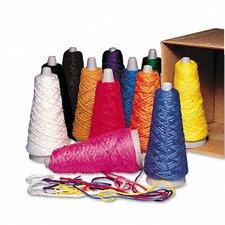 Trai-Tex Double Weight Yarn Cones, 2-oz., 12 Assorted Color Cones per Carton