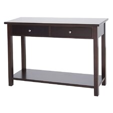 Blevins 2 Drawer Console Table in Dark Birch by Alcott Hill