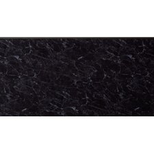 25cm x 270cm Tile in Black Marble Gloss
