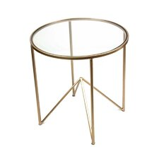 Metal & Glass End Table by Sagebrook Home
