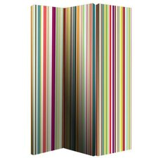 150cm x 120cm Bright Stripe Screen 3 Panel Room Divider