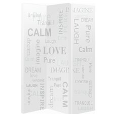 150cm x 120cm Words 3 Panel Room Divider