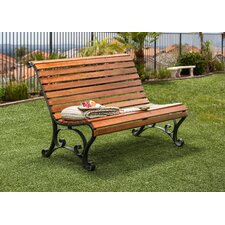 Simply Slatted Outdoor Garden Bench by Hokku Designs