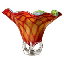 Wave Art Glass Vase
