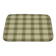 Picnic Plaid in Soft Tones with Terra Cotta Accents Bath Rug