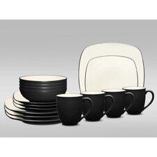 Colorwave Square 16 Piece Dinnerware Set, Service for 4