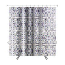 Alpha Medieval Tiles with Traditional Islamic Pattern Decor Premium Shower Curtain