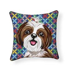 Pooch Décor Shih Tzu Indoor/Outdoor Throw Pillow