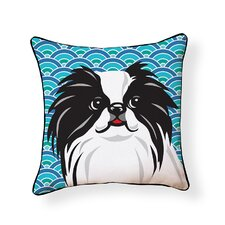 Pooch Décor Japanese Chin Indoor/Outdoor Throw Pillow