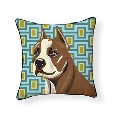 Pooch Décor Pit Bull Indoor/Outdoor Throw Pillow