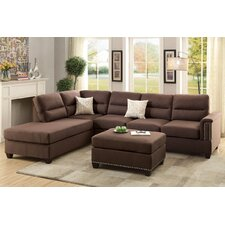 Bobkona Toffy Reversible Chaise Sectional