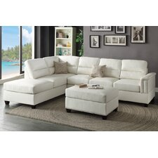 Faux Leather Sectional Sofas You Ll Love Wayfair