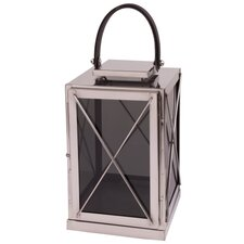 Aleria Stainless Steel and Glass Lantern