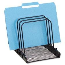 Mesh Flip File Folder Sorter, 5 Sections, Black, 7 4/5 x 1 7/8 x 10 2/5