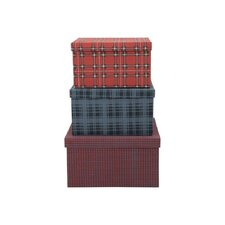 3 Piece Rectangle Tartan Box Set