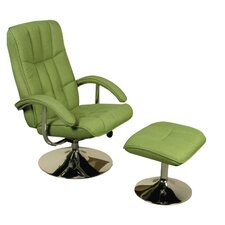 TV Swivel Chair and Footstool